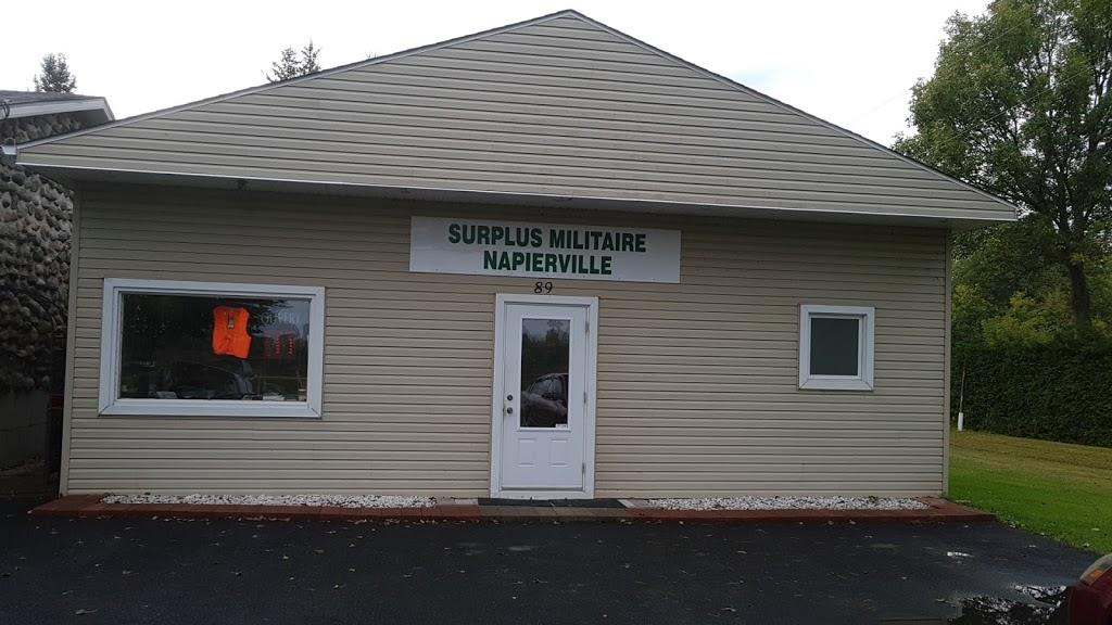 Surplus Militaire Napierville | store | 89 Rue de lÉglise, Napierville, QC J0J 1L0, Canada | 4502457084 OR +1 450-245-7084