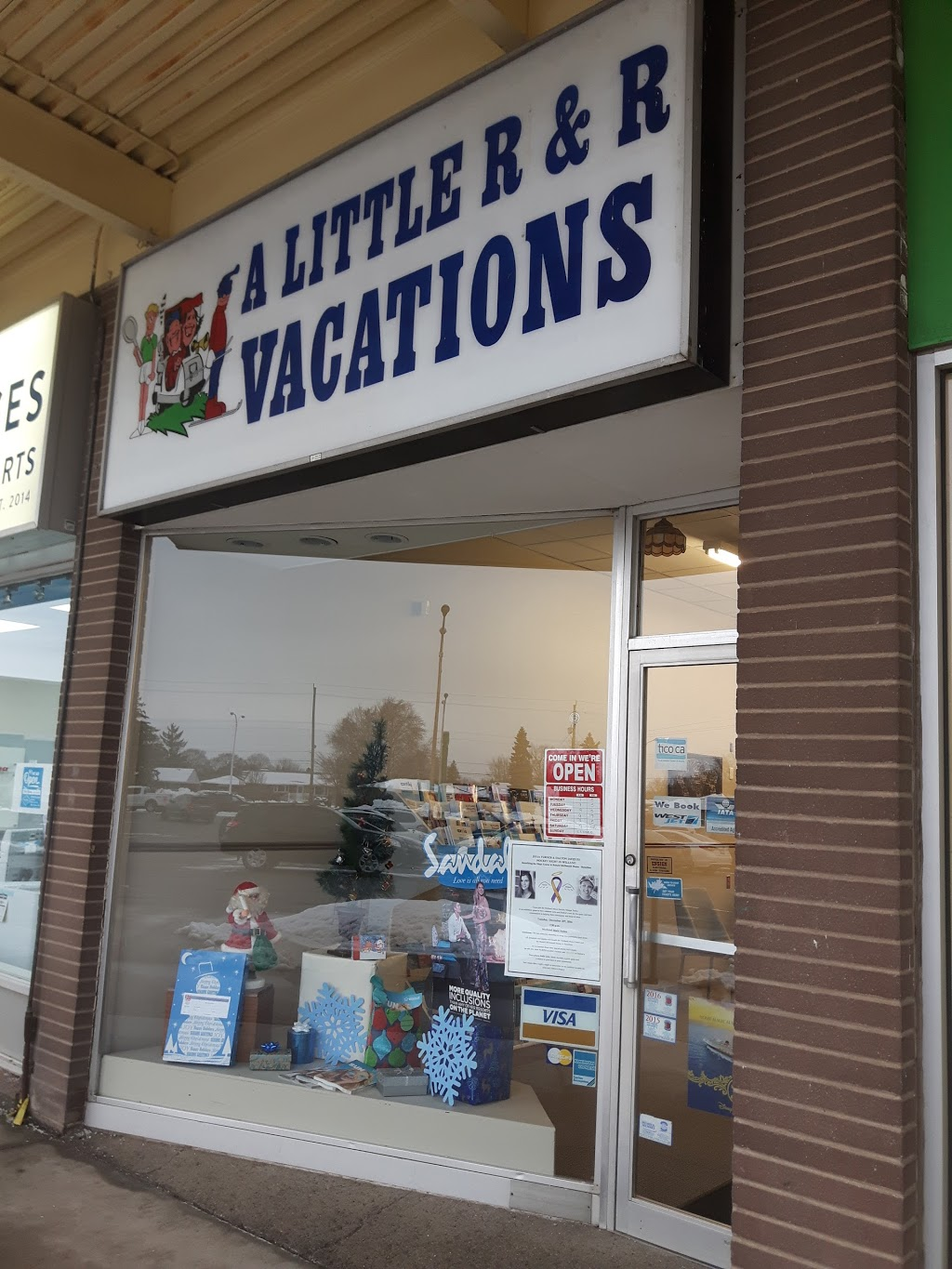 A Little R & R Vacations | travel agency | 200 Fitch St, Welland, ON L3C 4V9, Canada | 9057341311 OR +1 905-734-1311