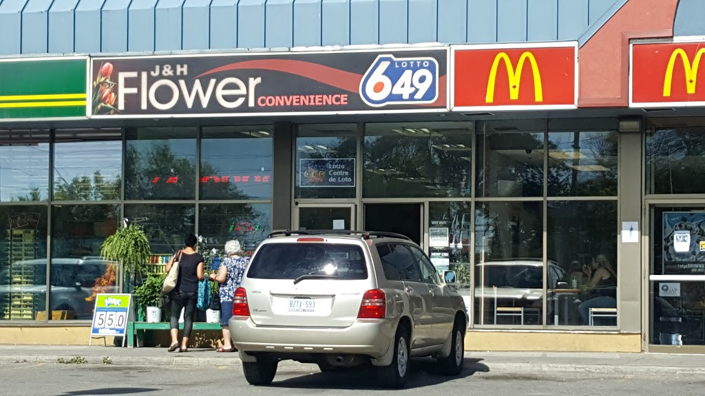 J & H Flower Convenience | convenience store | 603 Lakeshore Rd E, Mississauga, ON L5G 1H9, Canada