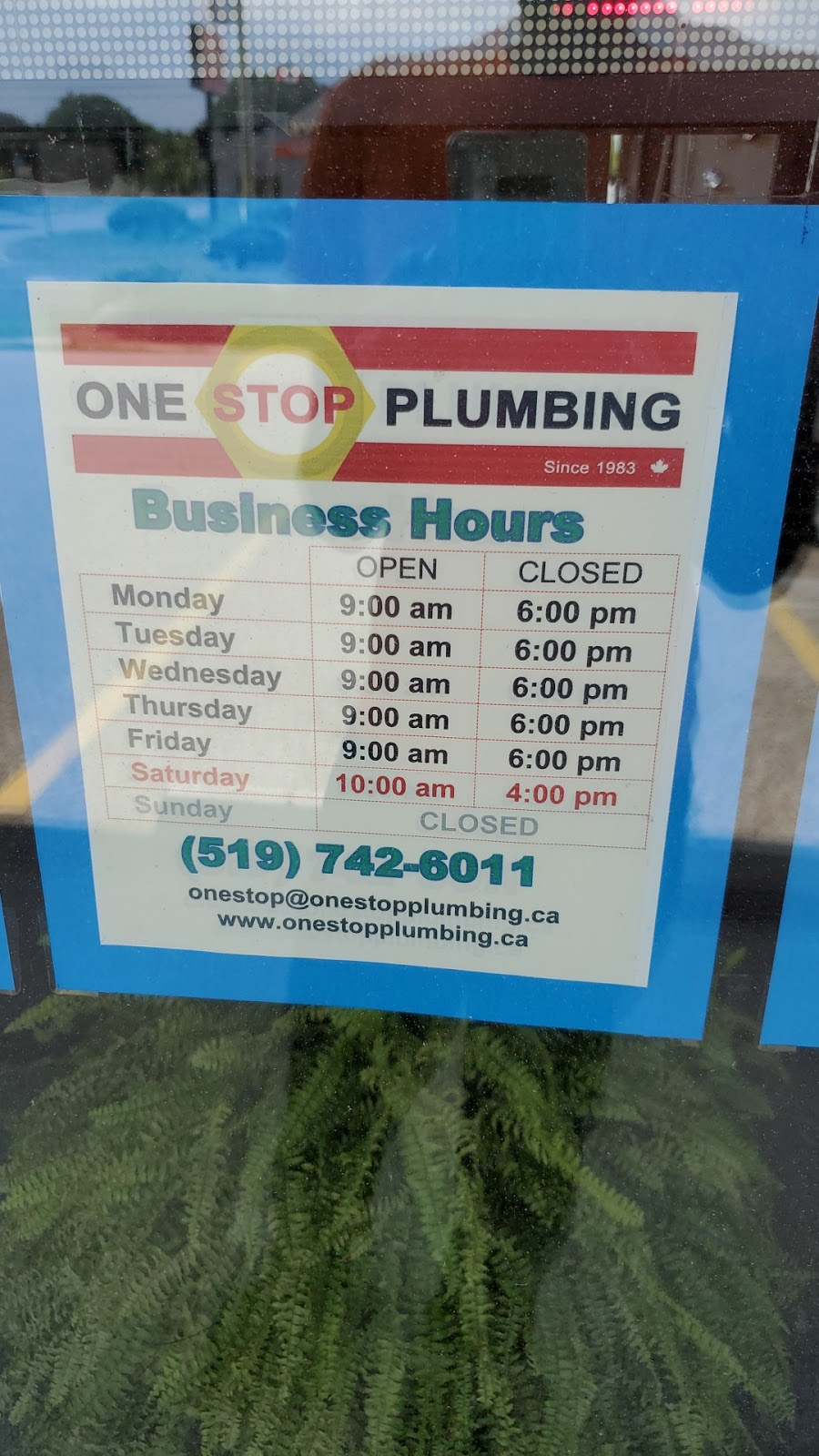 One Stop Plumbing   home goods store   842 Victoria St N #2, Kitchener, ON N2B 3C3, Canada   5197426011 OR +1 519-742-6011