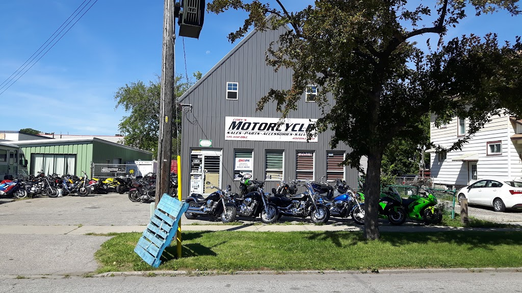Corys Motorcycle Sales and Salvage | store | 433 Palmerston St S, Sarnia, ON N7T 3P4, Canada | 5194022453 OR +1 519-402-2453