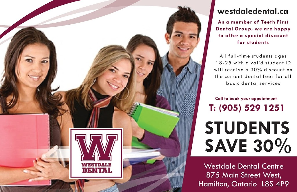Westdale Dental Centre | dentist | 875 Main St W, Hamilton, ON L8S 4P9, Canada | 9055291251 OR +1 905-529-1251