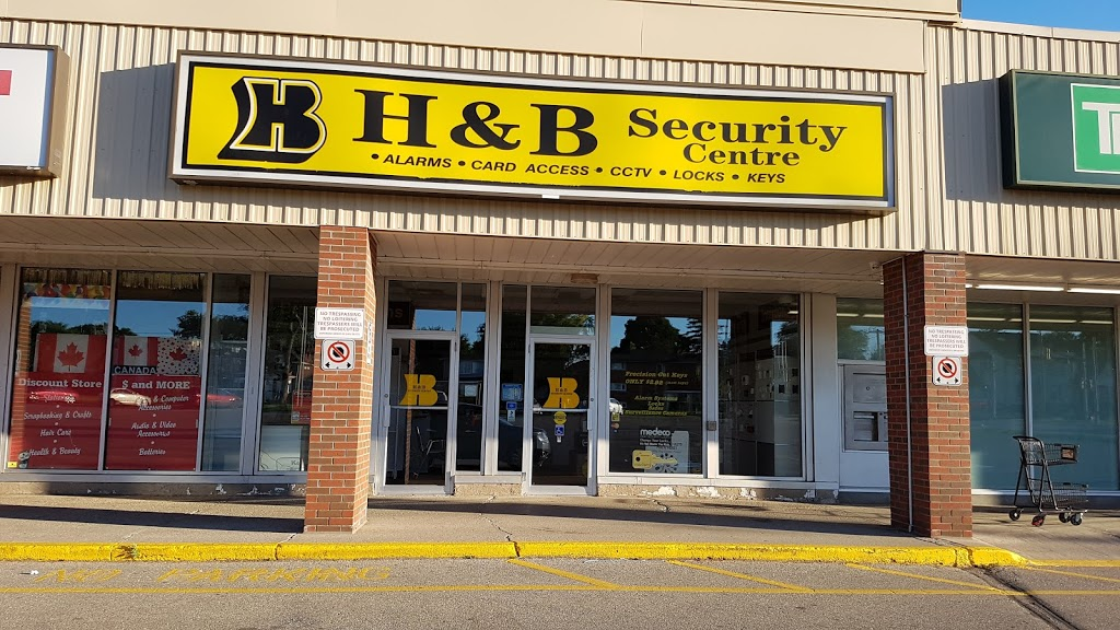 H & B Security Centre | locksmith | 274 Highland Rd W, Kitchener, ON N2M 3C4, Canada | 5195786268 OR +1 519-578-6268