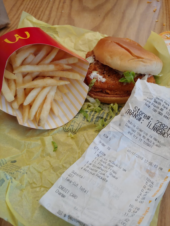 McDonalds | cafe | 4201 S Park Dr, Stony Plain, AB T7Z 1L1, Canada | 7809686441 OR +1 780-968-6441