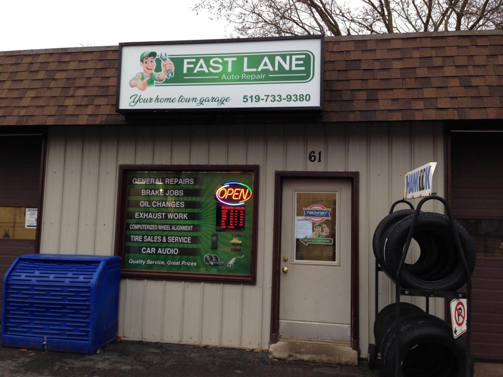 Fast Lane Auto Repair | car repair | 61 Main St W, Kingsville, ON N9Y 1H4, Canada | 5197339380 OR +1 519-733-9380