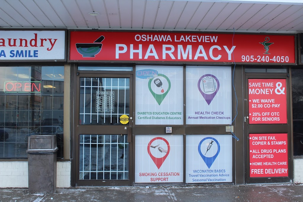 Oshawa Lakeview Pharmacy | health | 799 Park Rd S unit #5, Oshawa, ON L1J 4K1, Canada | 9052404050 OR +1 905-240-4050