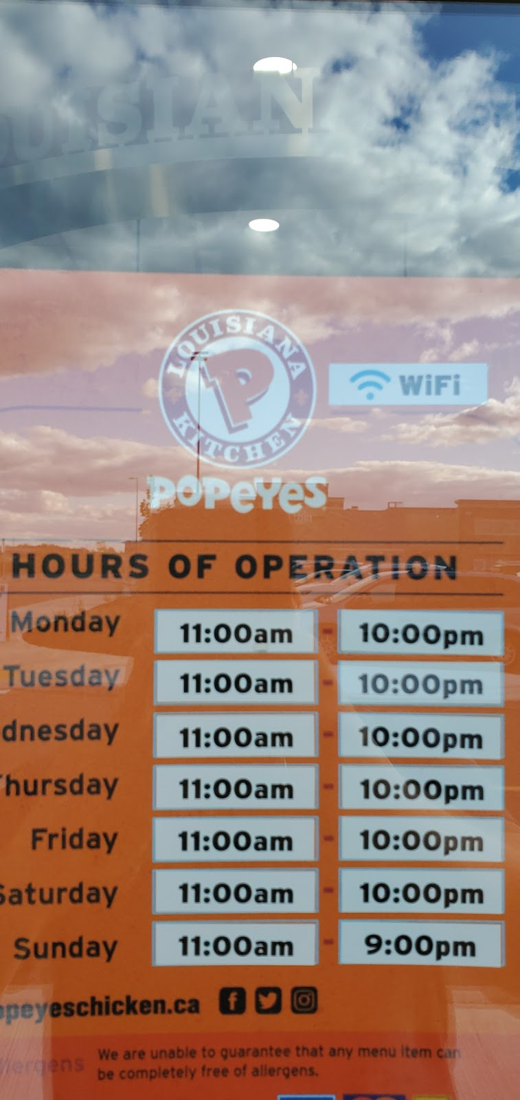 Popeyes Louisiana Kitchen | restaurant | 1352 S Service Rd, Stoney Creek, ON L8E 5C5, Canada | 9056432100 OR +1 905-643-2100