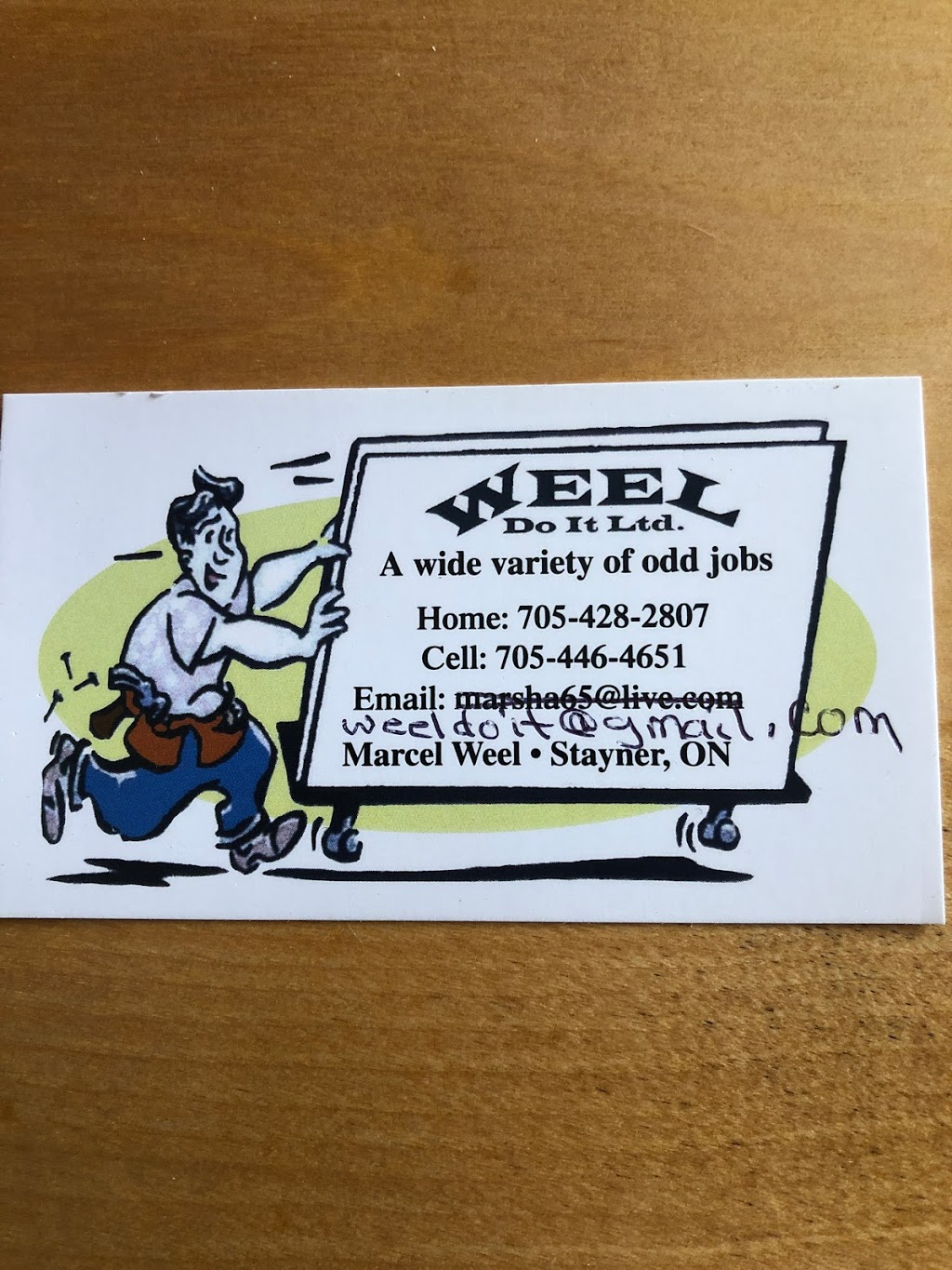 Weel Do It | point of interest | 1087 Fairgrounds Rd S, Stayner, ON L0M 1S0, Canada | 7054464651 OR +1 705-446-4651
