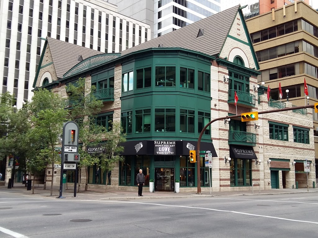 Supreme Mens Wear   clothing store   401 4 Ave SW, Calgary, AB T2P 4X6, Canada   4032664417 OR +1 403-266-4417