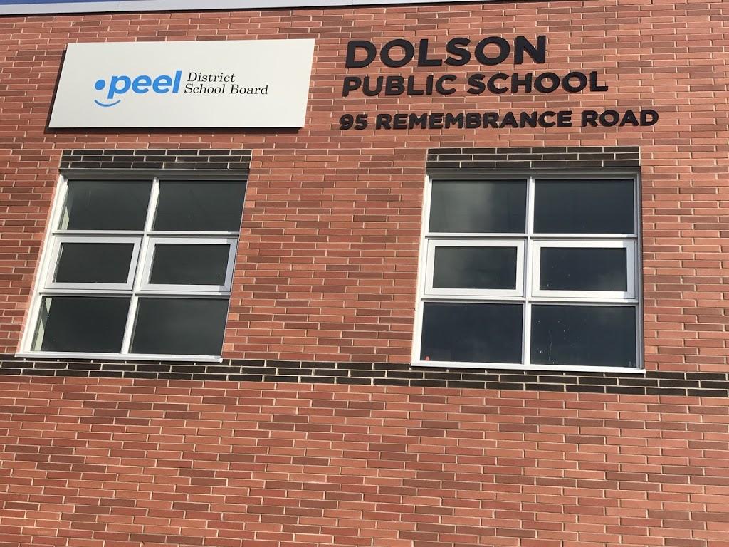 Dolson Public School   school   95 Remembrance Rd, Brampton, ON L7A 0A7, Canada   9057964462 OR +1 905-796-4462