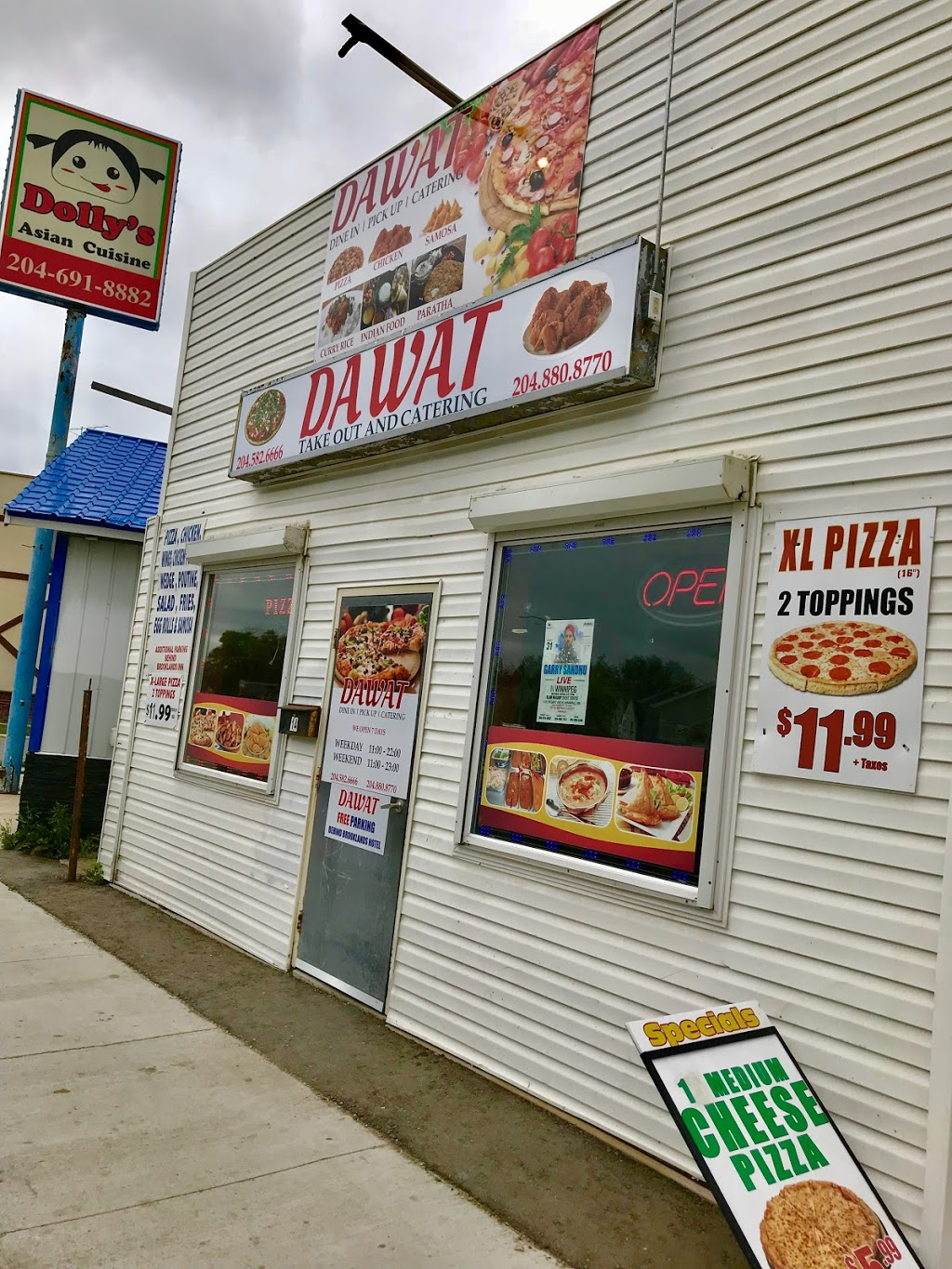 Dawat Tandoori Chicken Pizza and More   meal delivery   14 Keewatin St, Winnipeg, MB R3E 2B9, Canada   2045826666 OR +1 204-582-6666
