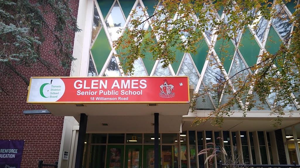 Glen Ames Senior Public School | school | 18 Williamson Rd, Toronto, ON M4E 1K5, Canada | 4163931800 OR +1 416-393-1800
