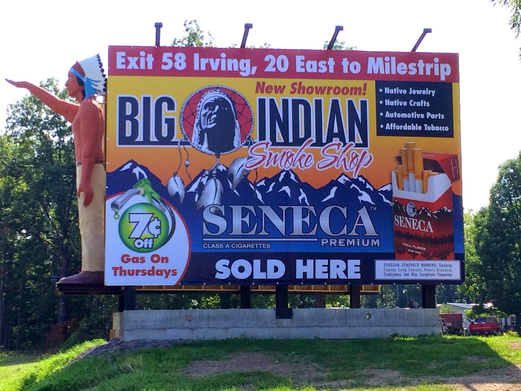 Big Indian Smoke Shop | convenience store | 597 Milestrip Rd, Irving, NY 14081, USA | 7169340370 OR +1 716-934-0370