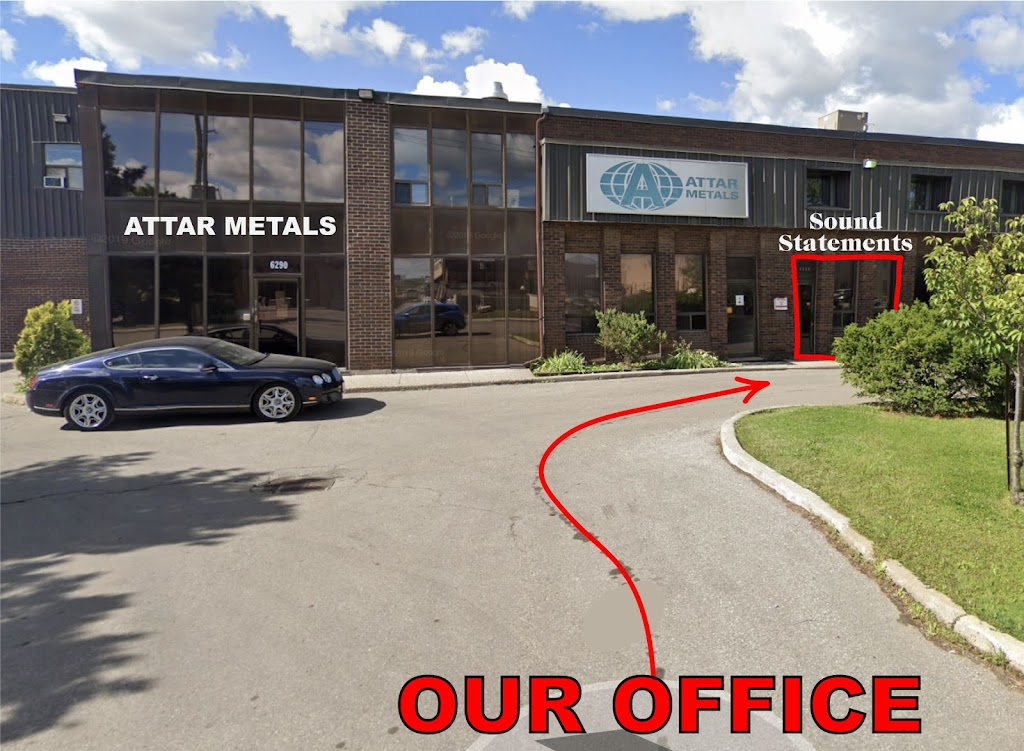 Sound Statements   point of interest   6290 Netherhart Rd Unit A, Mississauga, ON L5T 1B7, Canada   6478183779 OR +1 647-818-3779