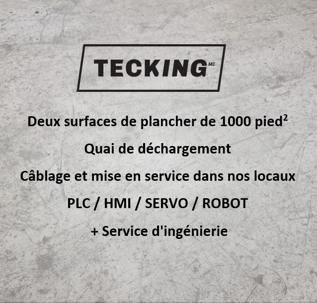TECKING Automatisation | point of interest | 120 Rue Oliva-Turgeon Bureau 3, Sherbrooke, QC J1C 0R3, Canada | 8732009002 OR +1 873-200-9002