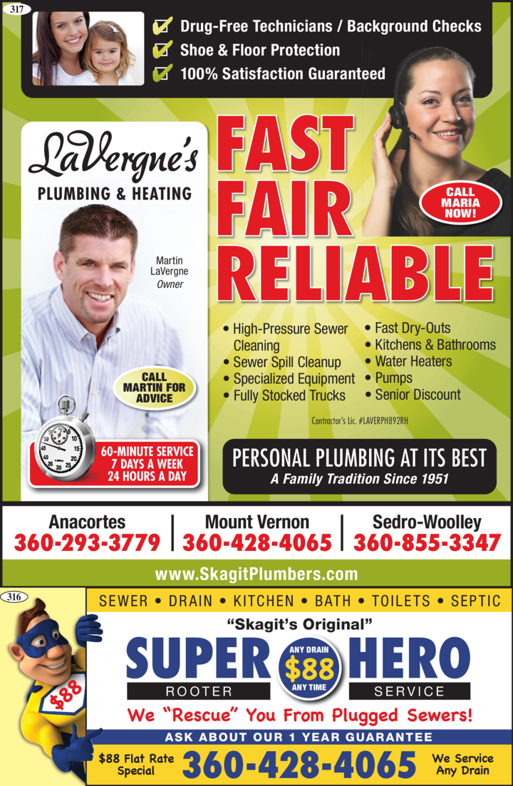 LaVergnes Plumbing & Heating | home goods store | 6001 Lawrence Rd, Everson, WA 98247, USA | 3606858098 OR +1 360-685-8098