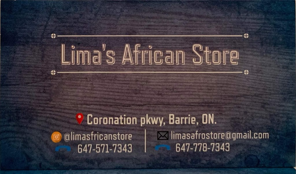 Limas African Store | store | 9 Coronation Pkwy, Barrie, ON L4M 7J9, Canada | 6475717343 OR +1 647-571-7343