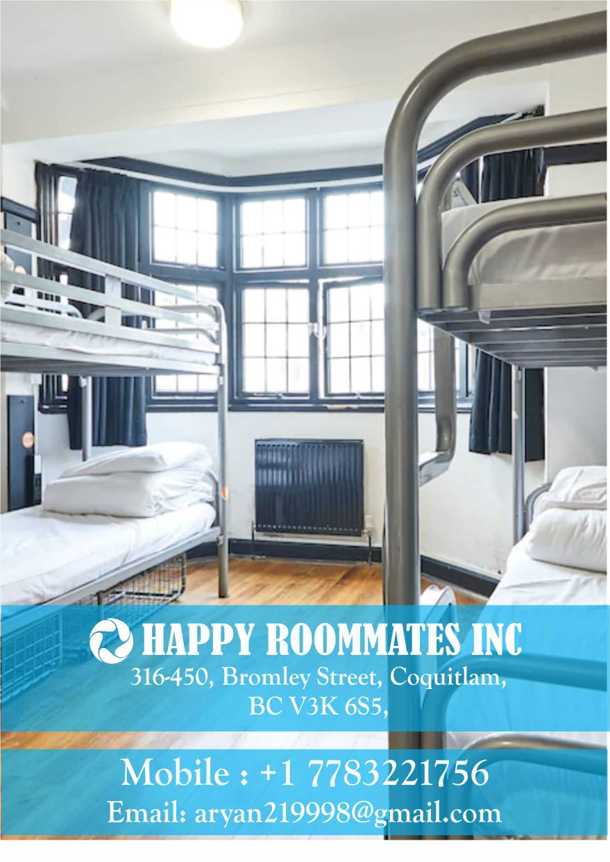 Happy Roommates room sharing | lodging | 450 Bromley St, Coquitlam, BC V3K 6S6, Canada | 7783221756 OR +1 778-322-1756