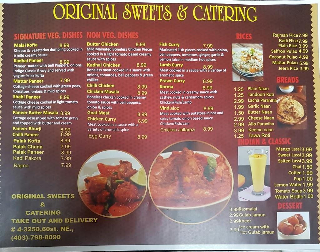 Original Sweets & Catering Restaurant | restaurant | 3250 60 St NE #04, Calgary, AB T1Y 3T5, Canada | 4037988090 OR +1 403-798-8090