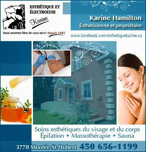 Esthétique et Electrolyse Karine | hair care | 3770 Montée Saint-Hubert, Saint-Hubert, QC J3Y 4K1, Canada | 4506561199 OR +1 450-656-1199