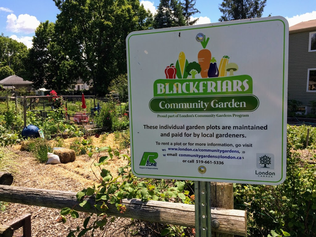 Blackfriars Community Garden | park | 2 St Patrick St, London, ON N6H 1P3, Canada | 5196615336 OR +1 519-661-5336