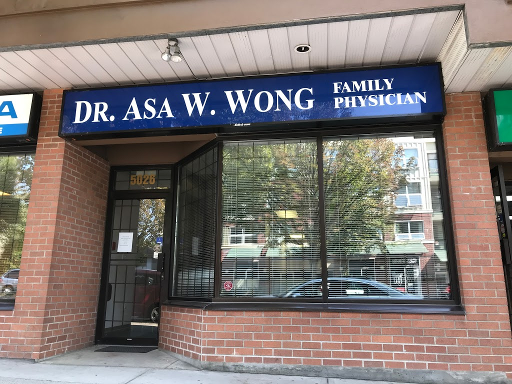 Dr Asa W Wong | doctor | 5026 Joyce St, Vancouver, BC V5R 4G6, Canada | 6044388581 OR +1 604-438-8581