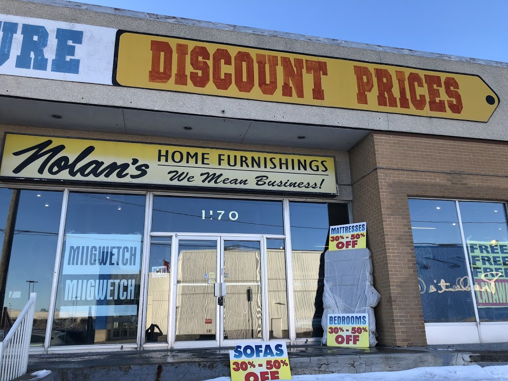 Nolans Home Furnishings | furniture store | 1170 St James St, Winnipeg, MB R3H 0K7, Canada | 2049828600 OR +1 204-982-8600