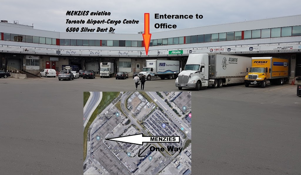 Menzies Aviation   point of interest   6500 Silver Dart Dr, Mississauga, ON L5P 1C3, Canada   9056942403 OR +1 905-694-2403