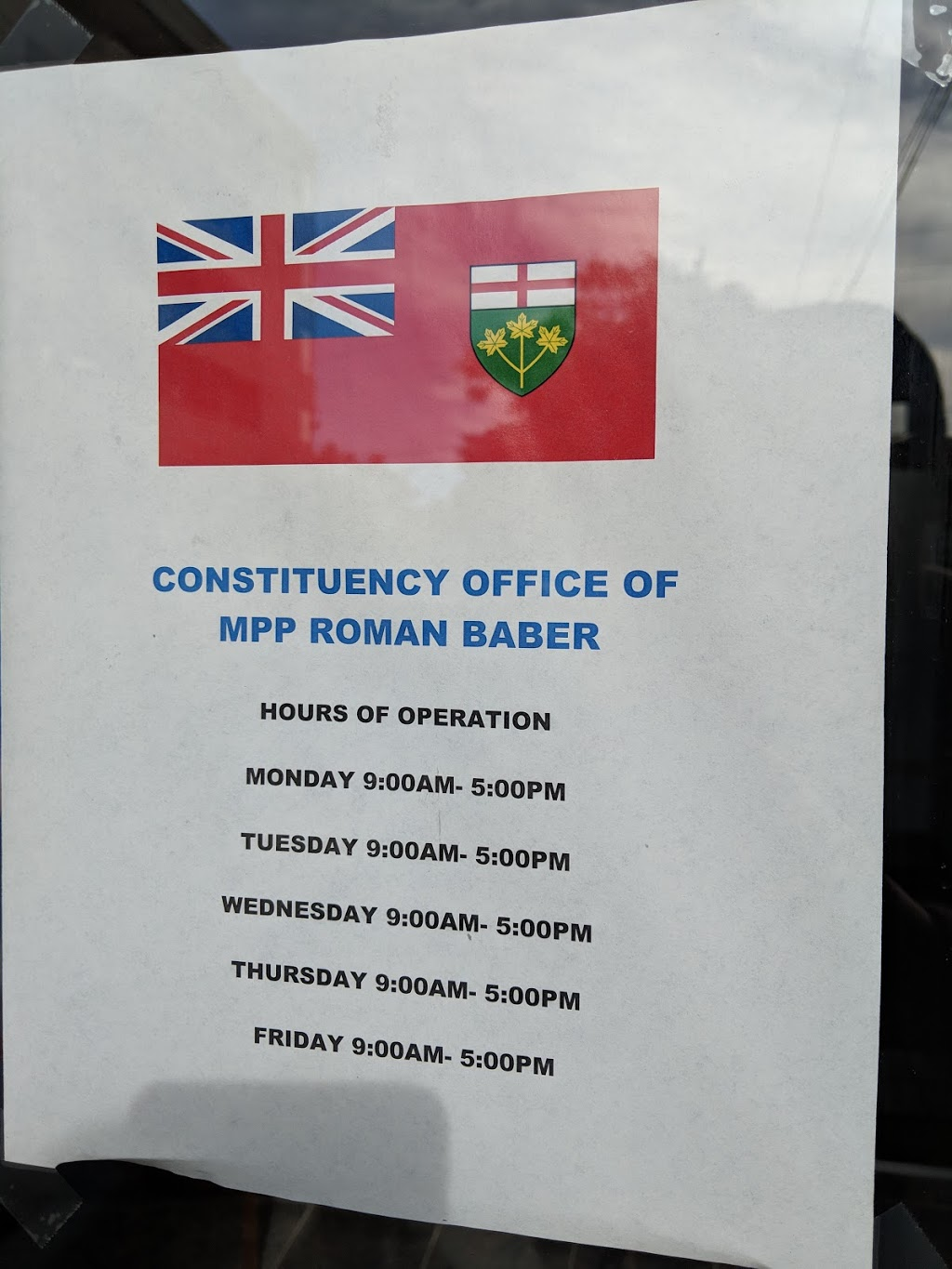 Roman Baber, MPP   point of interest   830 Sheppard Ave W, North York, ON M3H 2T1, Canada   4166300080 OR +1 416-630-0080