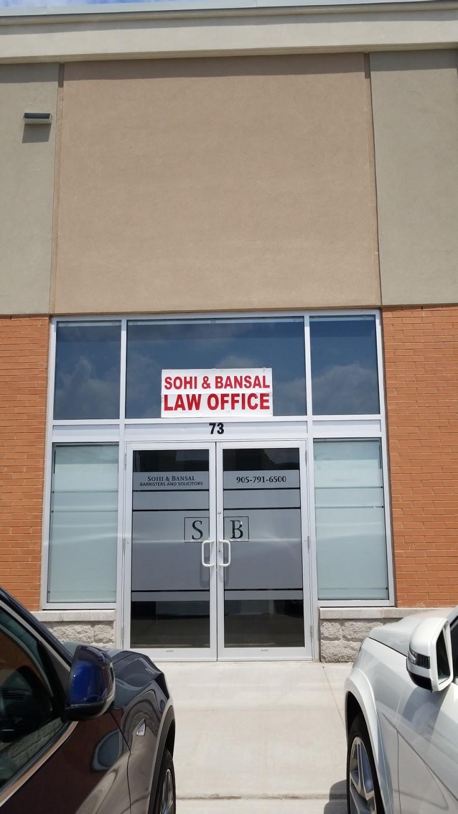 Sohi & Bansal Laywers Llp | lawyer | 100 Maritime Ontario Blvd Unit #73, Brampton, ON L6S 0E7, Canada | 9057916500 OR +1 905-791-6500