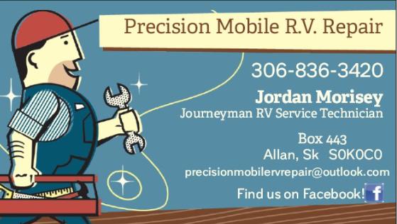 Precision Mobile R.V. Repair | car repair | 401 Clayton, Allan, SK S0K 0C0, Canada | 3068363420 OR +1 306-836-3420