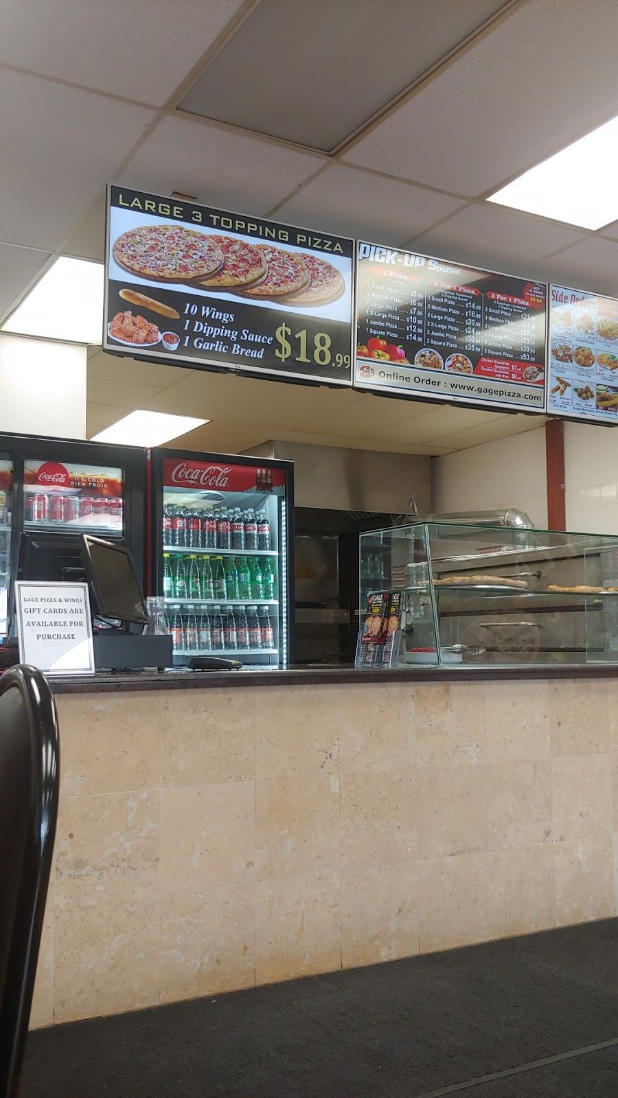 Gage Pizza & Wings | restaurant | 804 Upper Gage Ave, Hamilton, ON L8V 4K4, Canada | 9055744343 OR +1 905-574-4343
