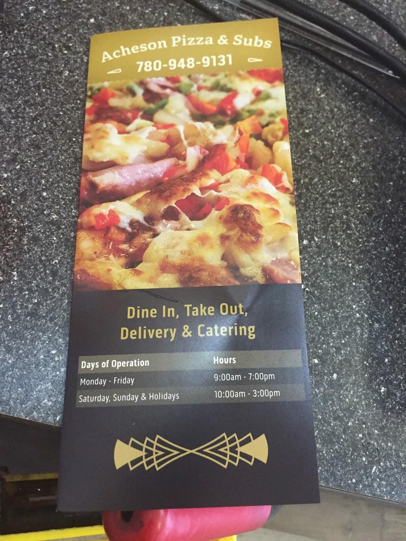 Acheson Pizza & Subs   restaurant   221 26229 Twp Rd 531A #10, Acheson, AB T7X 5A4, Canada   5874619668 OR +1 587-461-9668