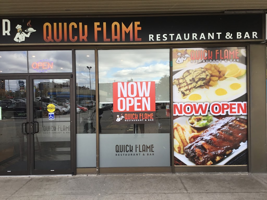 Quick Flame Restaurant and Bar | restaurant | 199 Wentworth St W, Oshawa, ON L1J 6P4, Canada | 9052437000 OR +1 905-243-7000