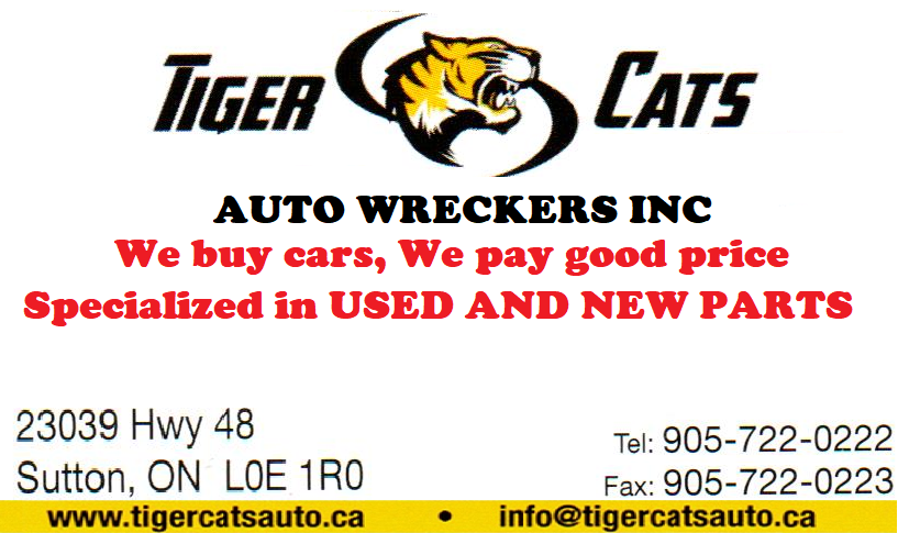 Tiger Cats Auto Wreckers | car repair | 23039 ON-48, Sutton, ON L0E 1R0, Canada | 9057220222 OR +1 905-722-0222