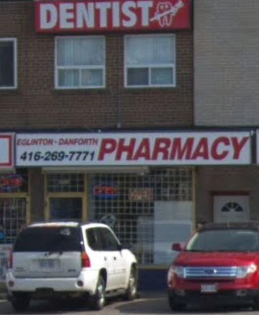 Eglinton-Danforth Pharmacy   health   2811 Eglinton Ave E, Scarborough, ON M1J 2E1, Canada   4162694333 OR +1 416-269-4333