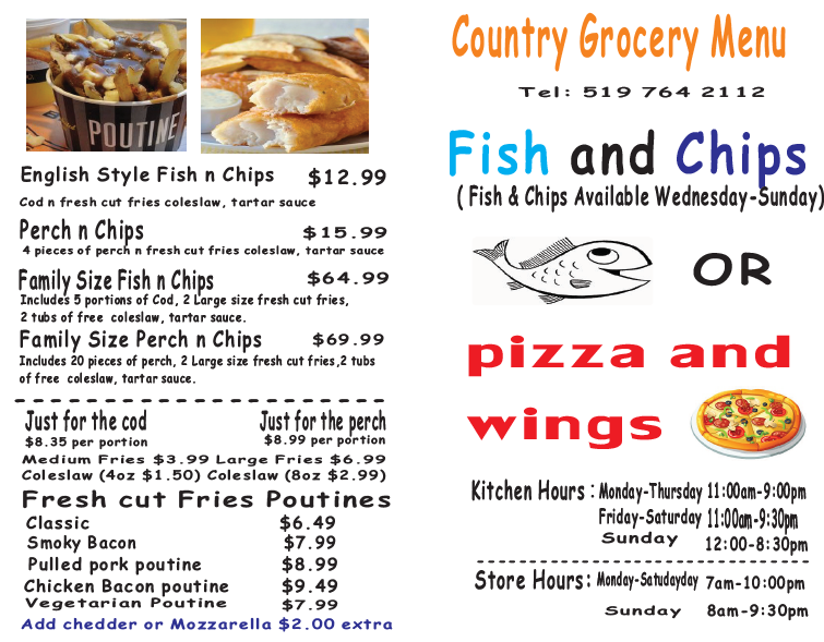 Country Grocery Inc | store | 35847 Talbot Line, Shedden, ON N0L 2E0, Canada | 5197642112 OR +1 519-764-2112