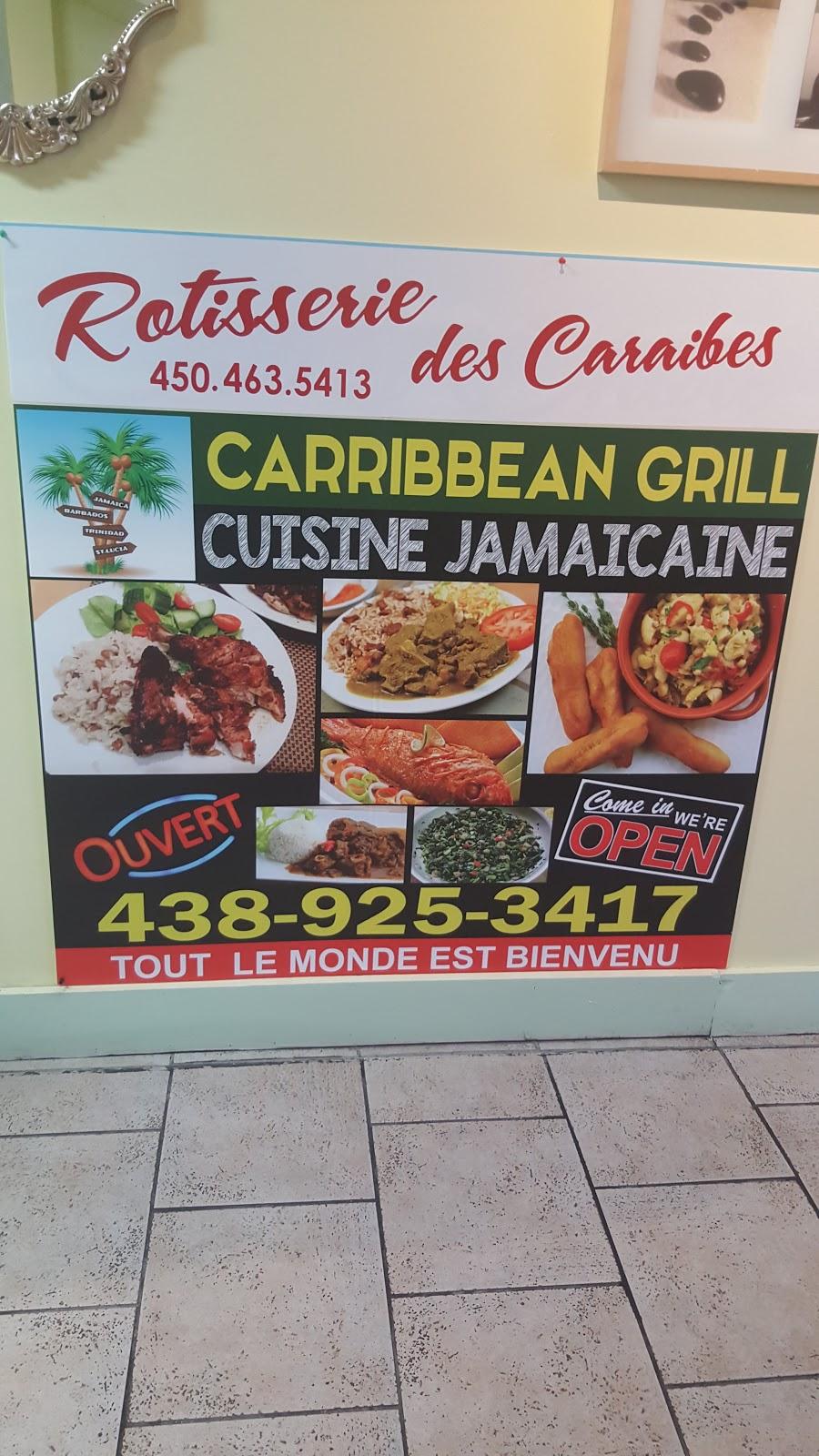 Caribbean Grill/Rotisserie Caraïbes Jamaïcaines | restaurant | 1999 Boulevard Édouard, Saint-Hubert, QC J4T 1Z3, Canada | 4389253417 OR +1 438-925-3417