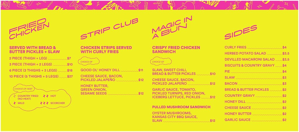 Magic Bird Fried Chicken | restaurant | 61 Sherbrook St, Winnipeg, MB R3C 2B3, Canada | 2046152977 OR +1 204-615-2977
