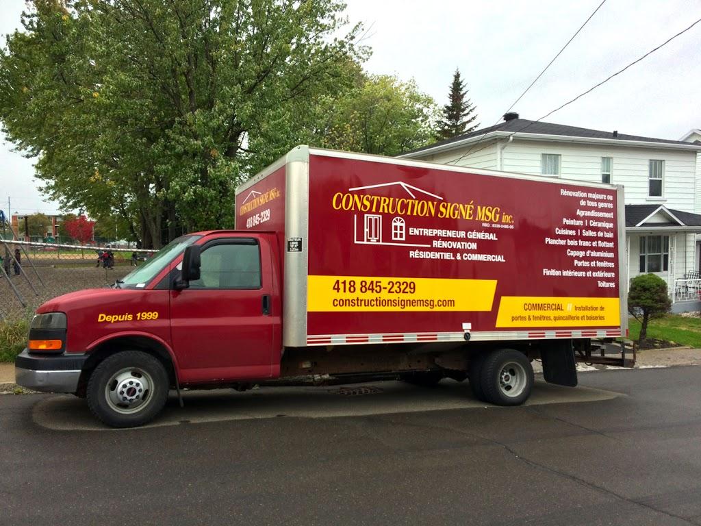 Construction Signé Msg Inc. | home goods store | 1255 Rue Gaillard, Québec, QC G3J 1J9, Canada | 4188452329 OR +1 418-845-2329