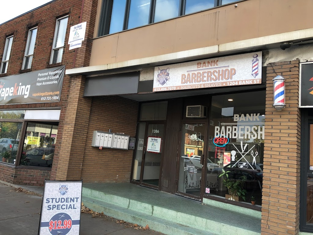 Bank Barbershop   hair care   1204 Bank St, Ottawa, ON K1S 3Y1, Canada   6134067070 OR +1 613-406-7070