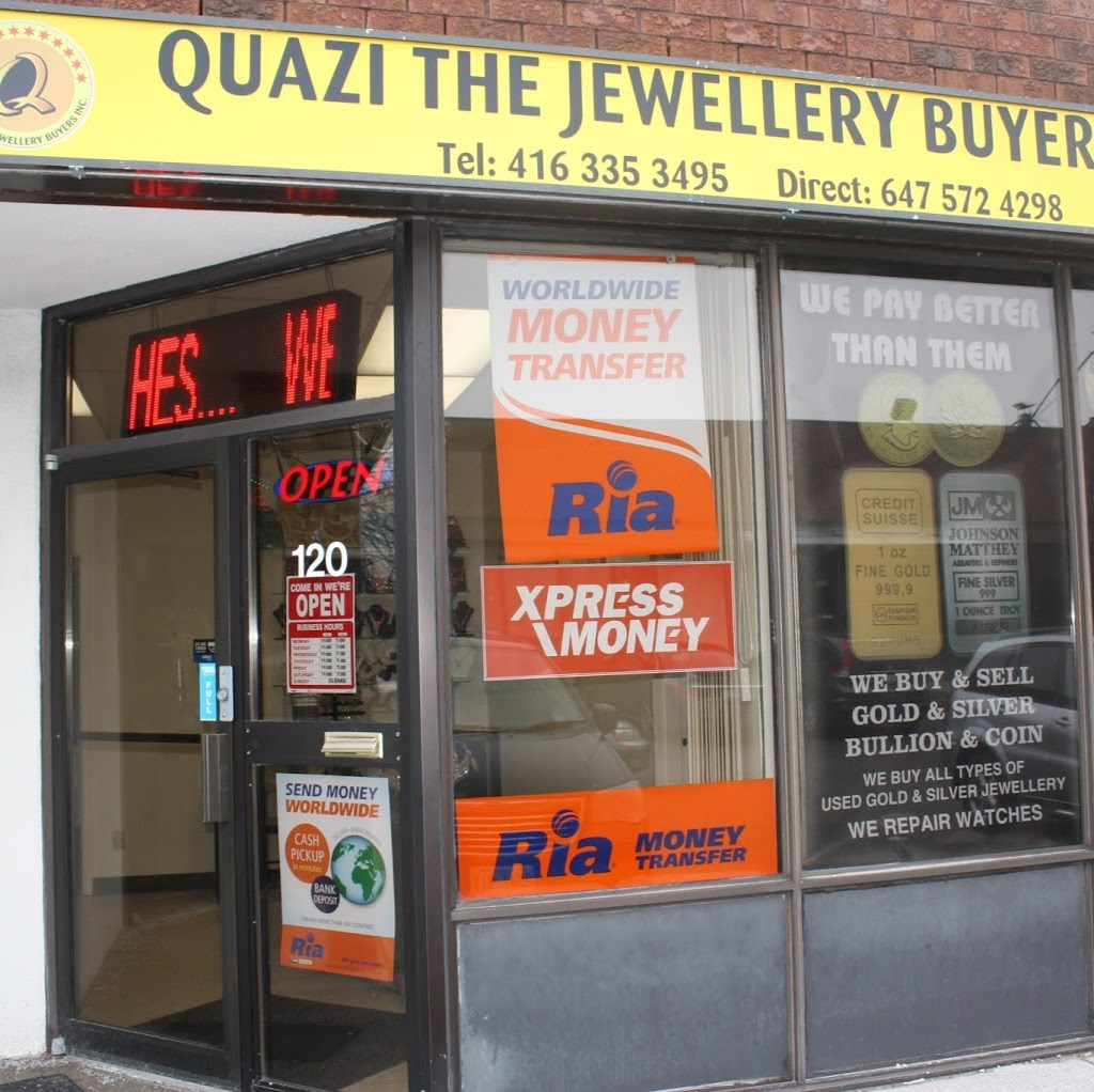 Quazi The Jewellery Buyer   jewelry store   120, 4800 Sheppard Ave E, Scarborough, ON M1S 4N5, Canada   4163353495 OR +1 416-335-3495