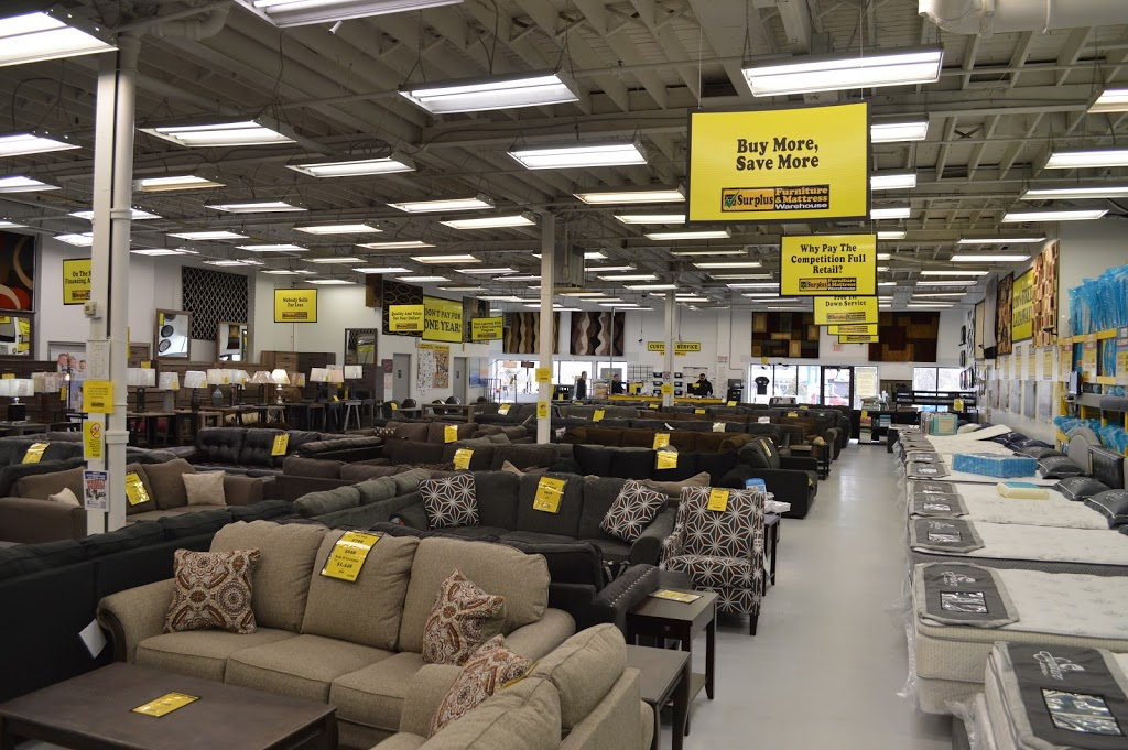 Surplus Furniture and Mattress Warehouse | furniture store | 90 Anne St S, Barrie, ON L4N 2E3, Canada | 7057353344 OR +1 705-735-3344