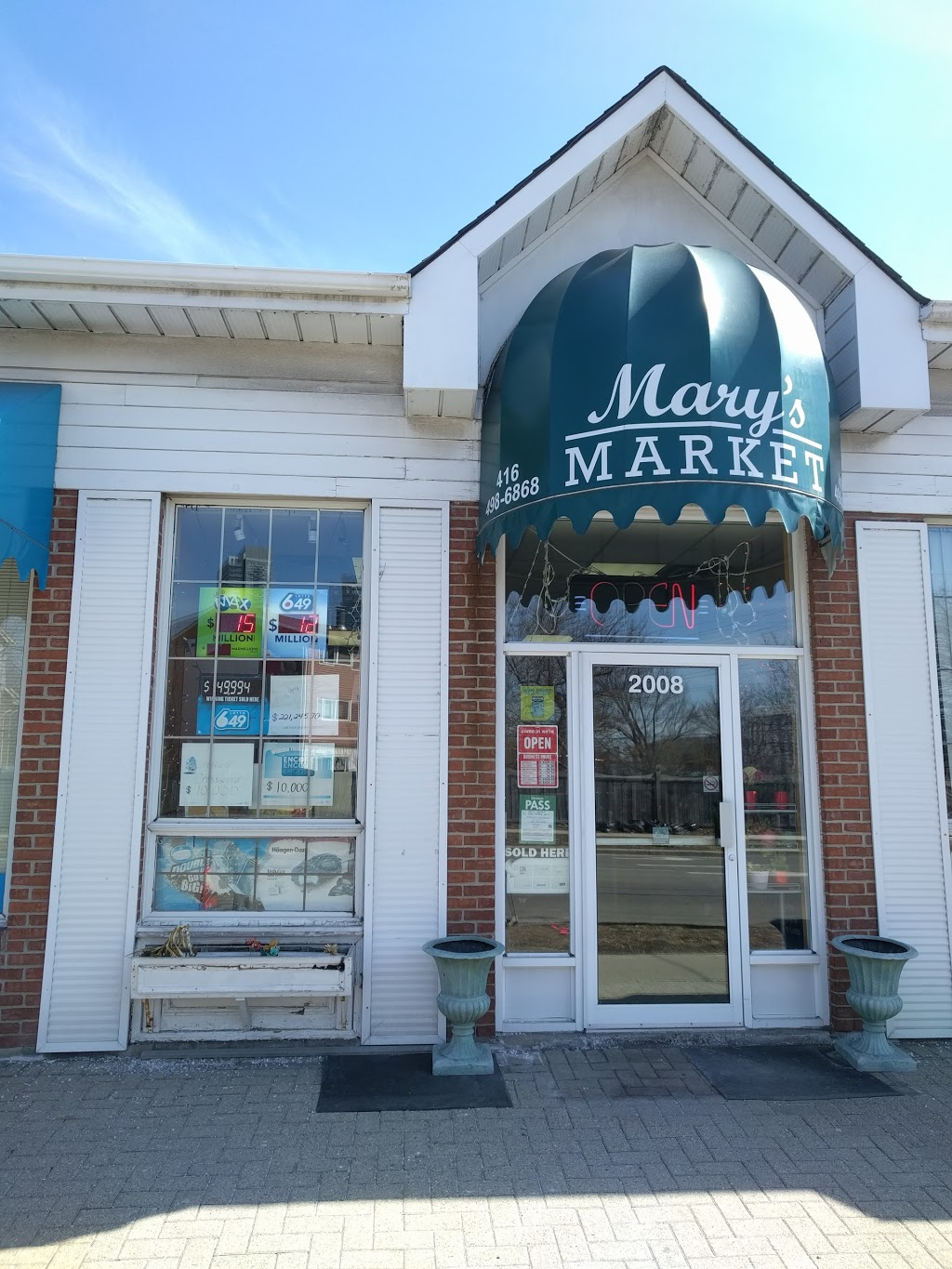 Marys Market Convenience Store | convenience store | 2008 Sheppard Ave E, North York, ON M2J 4X5, Canada | 4164986868 OR +1 416-498-6868