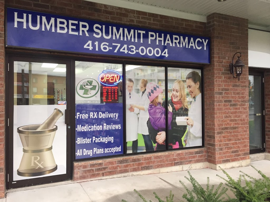 Humber Summit Pharmacy | health | 2972 Islington Ave unit-10, North York, ON M9L 2K6, Canada | 4167430004 OR +1 416-743-0004