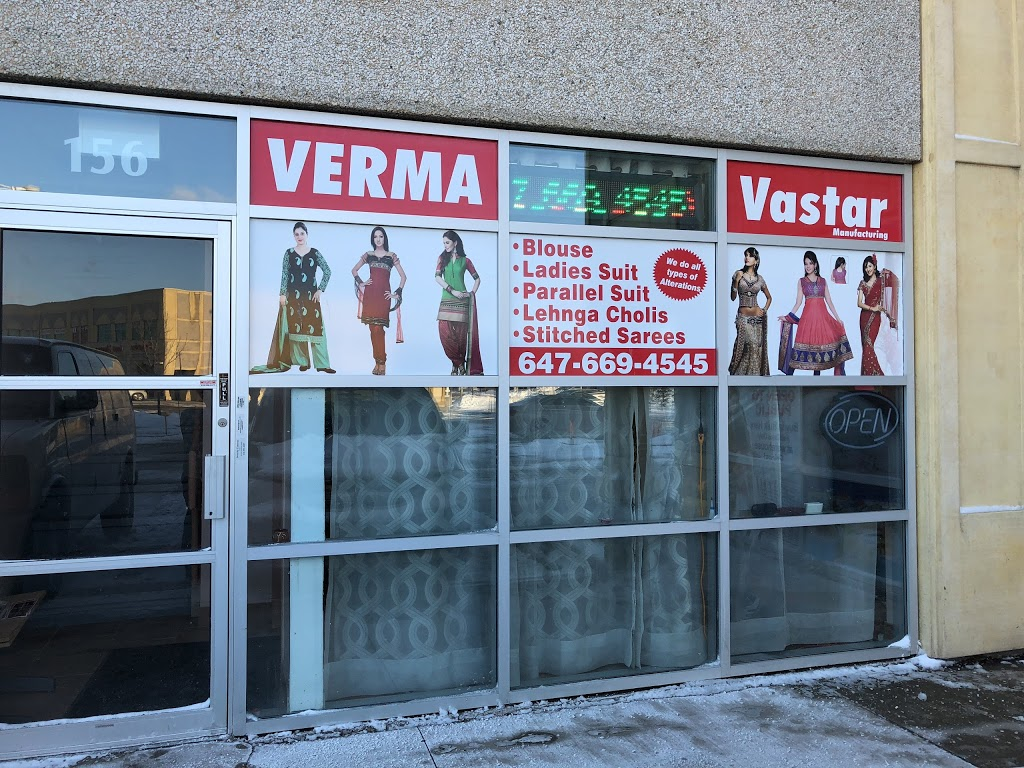 Verma Vastar ( Indian Tailor) | clothing store | 0A5, 2960 Drew Rd, Mississauga, ON L4T 2H3, Canada | 6476694545 OR +1 647-669-4545