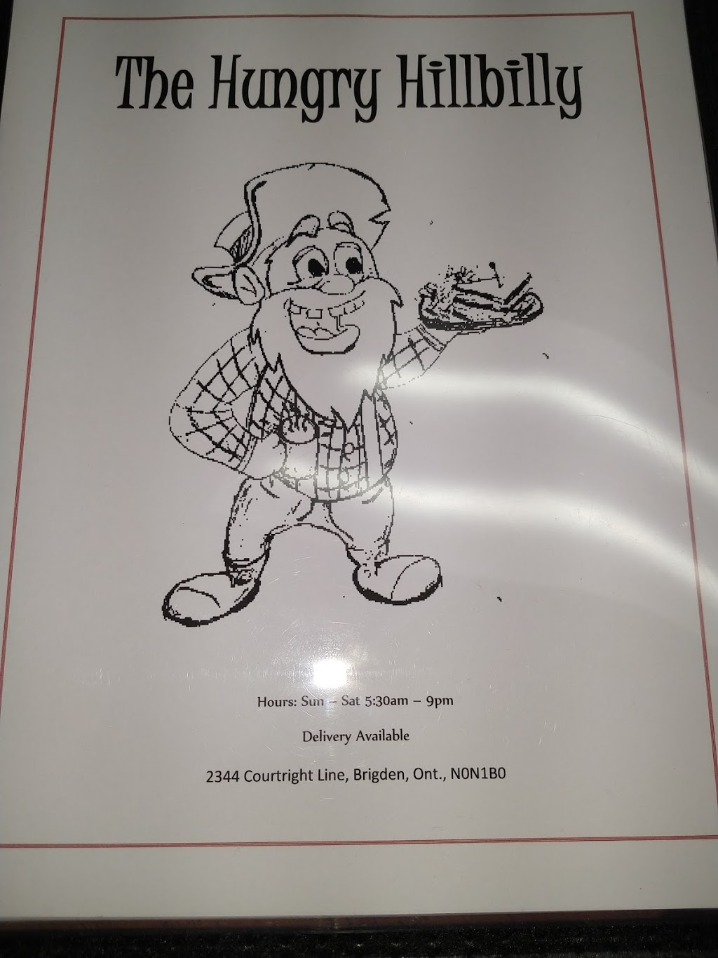 The Hungry Hillbilly | restaurant | 2344 Courtright Line, Brigden, ON N0N 1B0, Canada | 2267782297 OR +1 226-778-2297
