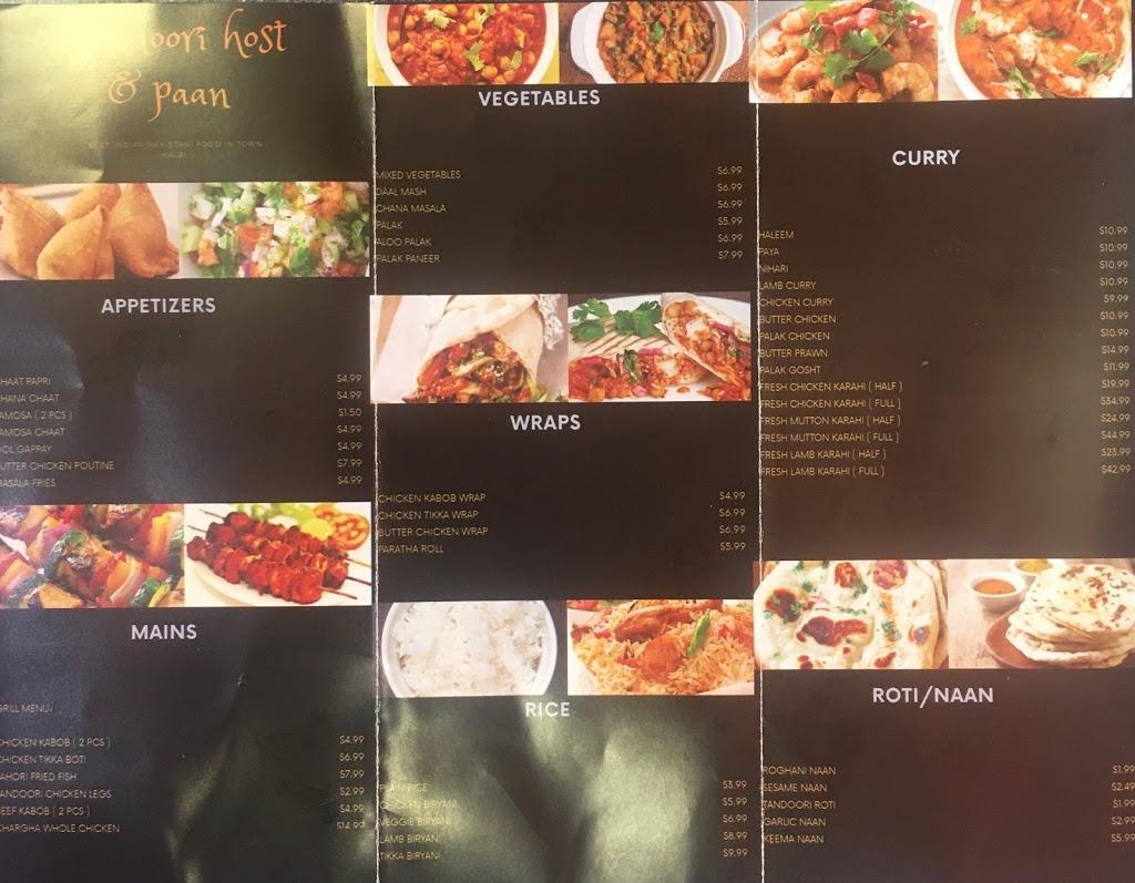 Tandoori Host & Paan | restaurant | 2497 Finch Ave W, North York, ON M9M 2G1, Canada | 4167469746 OR +1 416-746-9746