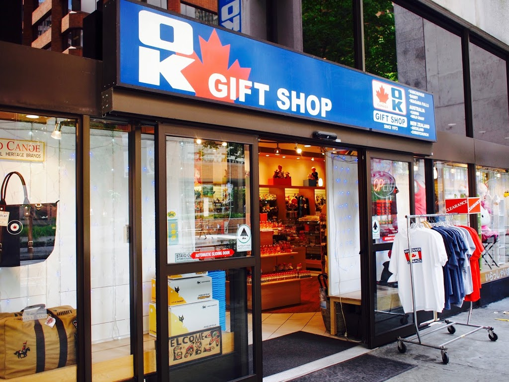 O.K. Gift Shop   store   1155 W Pender St, Vancouver, BC V6E 2P4, Canada   6046895513 OR +1 604-689-5513