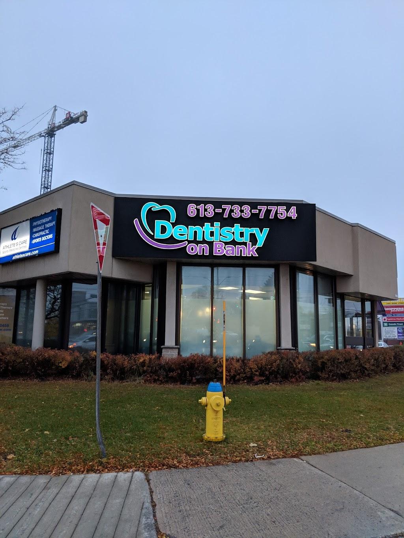 Dentistry on Bank   dentist   1596 Bank St, Ottawa, ON K1H 7Z5, Canada   6137337754 OR +1 613-733-7754